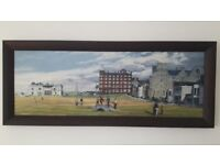 Old Course St Andrews large framed canvas picture