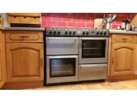 Belling Country Classic LPG Range Cooker in Silver (very good condition - buyer to collect)