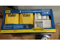 Yale wireless burglar intruder security alarm system communicating/new boxed/room & door sensors