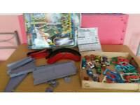 Battle deck super raceway boxed & instructions + 10 battledeck cars-loads of combinations lots fun