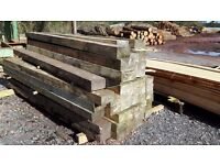 7ft x5inchx3inch untreated (cheaper alternative to sleepers) great for alotments