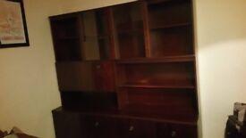 NEW YEAR, NEW UNITS! FREE Pair of mahogany veneer wall units NEED TO GO QUICKLY