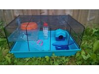 Blue cage for hamster or mouse