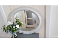 1940 - 1950's bevelled oval mirror