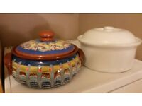 2 unused cooking pots with steam holes