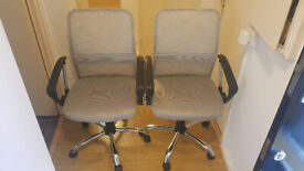 Gray Fabric Office Chair X2