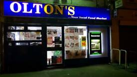 Off license newsagent and wine convenience store