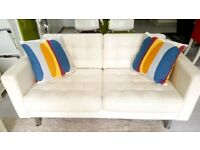 White Leather Sofa - 2 seater - Ikea - very good condition