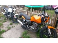 Zontes panter 125 orange and black