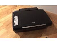 Epson Stylus SX200 All-in-One Printer,needs new black cartridge,Yellow Blue Red cartridges work fine