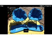 HiGear children's camping chairs x 2