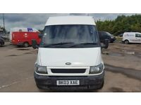 FORD TRANSIT LWB 350 2.4 TDI 90. 12 MONTHS MOT. 130.000 5 DOORS INCLUDING NEAR SIDE.
