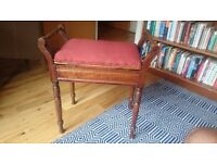 1 vintage pianostool & 1 modern pianostool East London - also sold separately