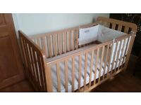 Mothercare Cot Bed with mattress - Excellent condition!