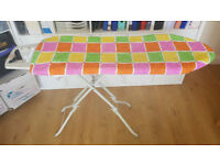 Full Size Ironing Board - double folds for compact storage - washable covers - very sturdy