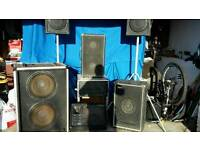 PA / DJ Mixing Desk Speaker System *PRICE REDUCED*