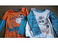 Set of two boys mix & match pyjamas Age 3-4