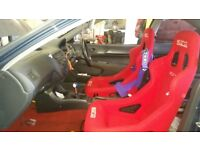 Red sparco bucket seat