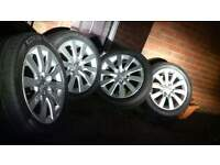 5x112 17 inch wheels originall! from audi a4 2011 tyres like new250£ cheap!!!!!