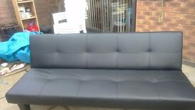 Black double sofa bed only used once excellent condtion