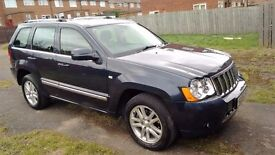 Jeep Grand Cherokee 3 Litre CRD OVERLAND 2008 Facelift 58 reg in blue