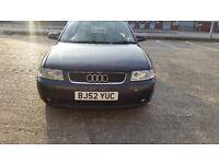 Audi A3T long mot service history cheap on fuel tax tidy alloy cd economical big boot £675