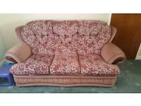 3 seater settee..with single chair an poof