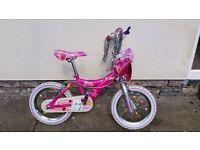 "Girls Bicycle - 14"" Barbie bike for sale"