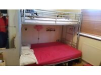 Trio metal bunk bed