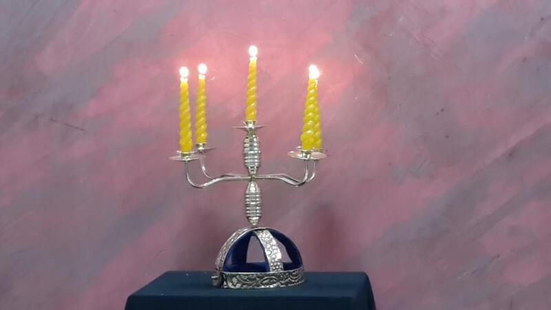 CANDELABRA Belly Dance Shamadan Candles Holder Adjustable Head Piece