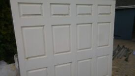 """Free - Garage Door 7' wide x 6'6"""" high. Comes with fittings/springs/runners/etc."""