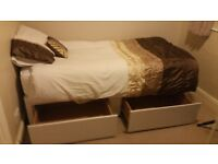 Single bed with storage. Duvet and pillows also included.