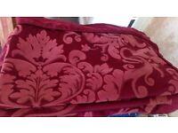 Dorma Superking burgundy red duvet cover and pillowcases