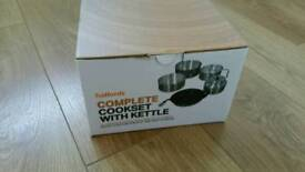Brand New & Boxed Halfords Complete Cookset With Kettle