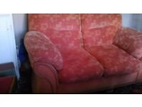 Terracotta/orange sofa bargain £10!!!
