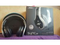SMS Audio SYNC By 50 Cent Over-Ear Wireless Headphones - Silver/Black