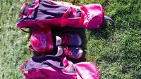 youth size 7 shoe and helmet