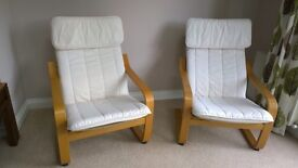 Two IKEA Poang chair cushion pads