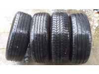 ford connect 4 tyres and rims 195/65r15 free wheel trims