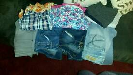 Bundle of jeans and leggings
