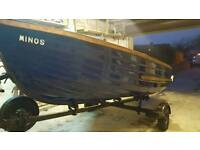 14ft fishing boat 5hp 4- outboard