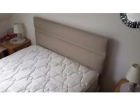 Double bed headboard and divan double bed