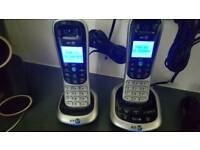 Bt2600 twin cordless phone with answer machine and one touch do not disturb button