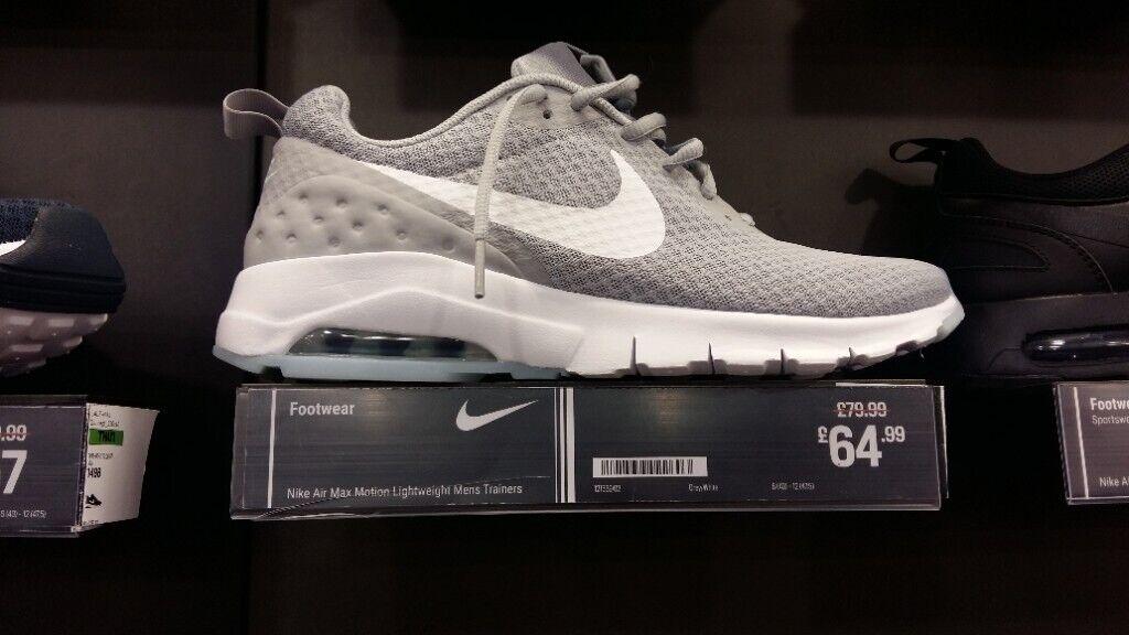 Fake Mens Nike Air Max Motion Trainers   Black White