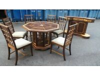Designer Unusual Sideboard/condole and able with 6 chairs,Delivery Available