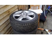 17 inch astra turbo alloys with brand new tyers