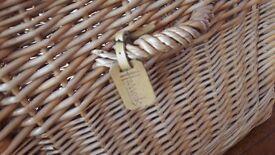 HARRODS Large Wicker Basket / Hamper