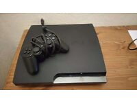 ps3 console black - with controller and 70 games