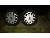 pair of 195/65/15 continental snow tyres