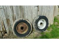 two fronts wheels 7. 50 X 16 good tyres Cookstown